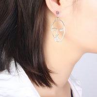 Face Drop Earrings