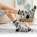 Load image into Gallery viewer, Zebra Print Socks