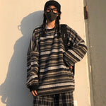 Load image into Gallery viewer, Oversized Geostripe Sweater