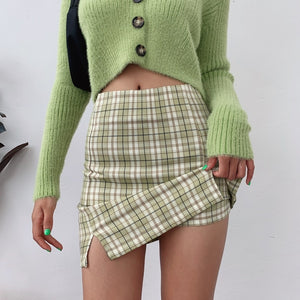 Plaid Mini Skirt