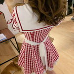 Load image into Gallery viewer, Plaid Sailor's Dress