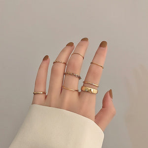 Simple Chic Stacking Rings in Gold
