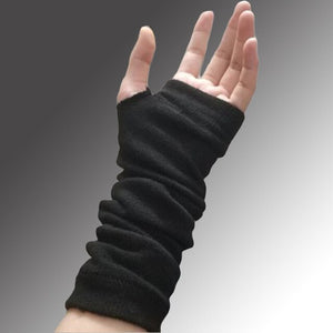 Black Knit Arm Warmers