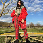Load image into Gallery viewer, Red Plaid Pants