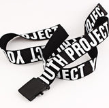 Printed Canvas Belt - aesthetic