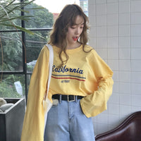"Oversized ""California"" Sweatshirt - aesthetic"