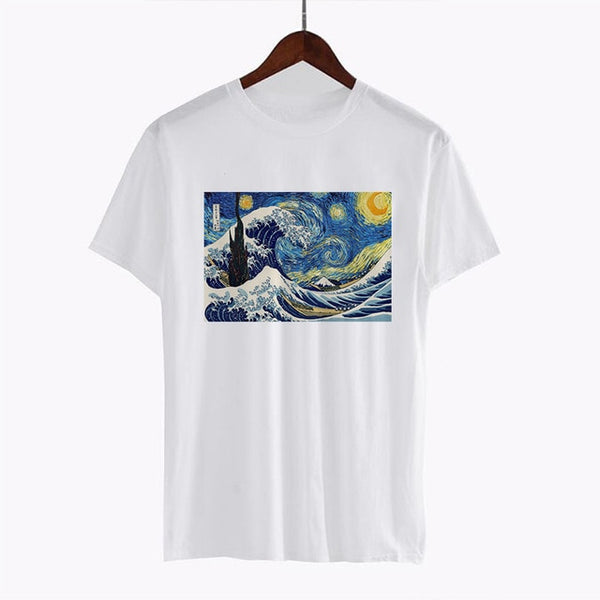 Van Gogh Starry Night t-shirt - aesthetic