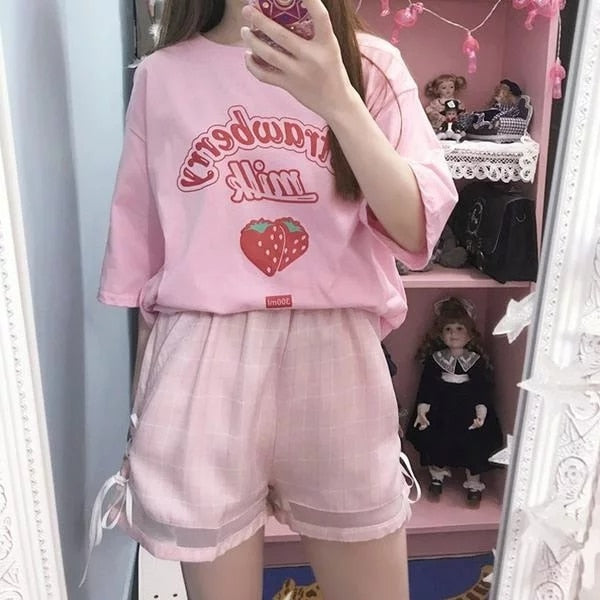 Strawberry Milk T-Shirt - aesthetic