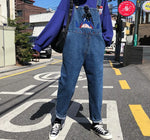 Load image into Gallery viewer, Cartoon Embroidery Denim Overalls - aesthetic