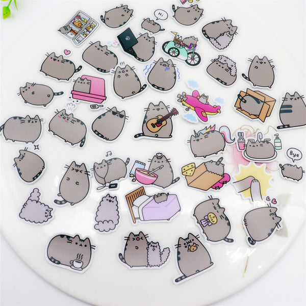 39 Fat Cat Stickers - aesthetic