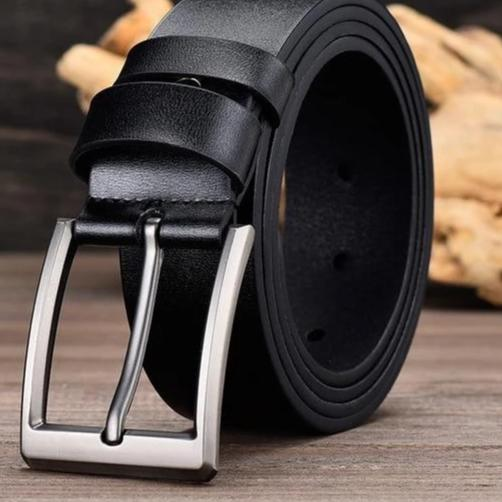 Thick Leather Belt - aesthetic