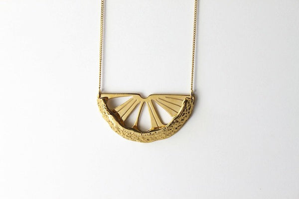 "Collier ""Citrus métal"""