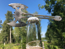 Load image into Gallery viewer, An exklusive miniaxe that you can use as a beer opener or a pendant.