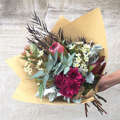 Natural n' Neutral Wrapped Bouquet