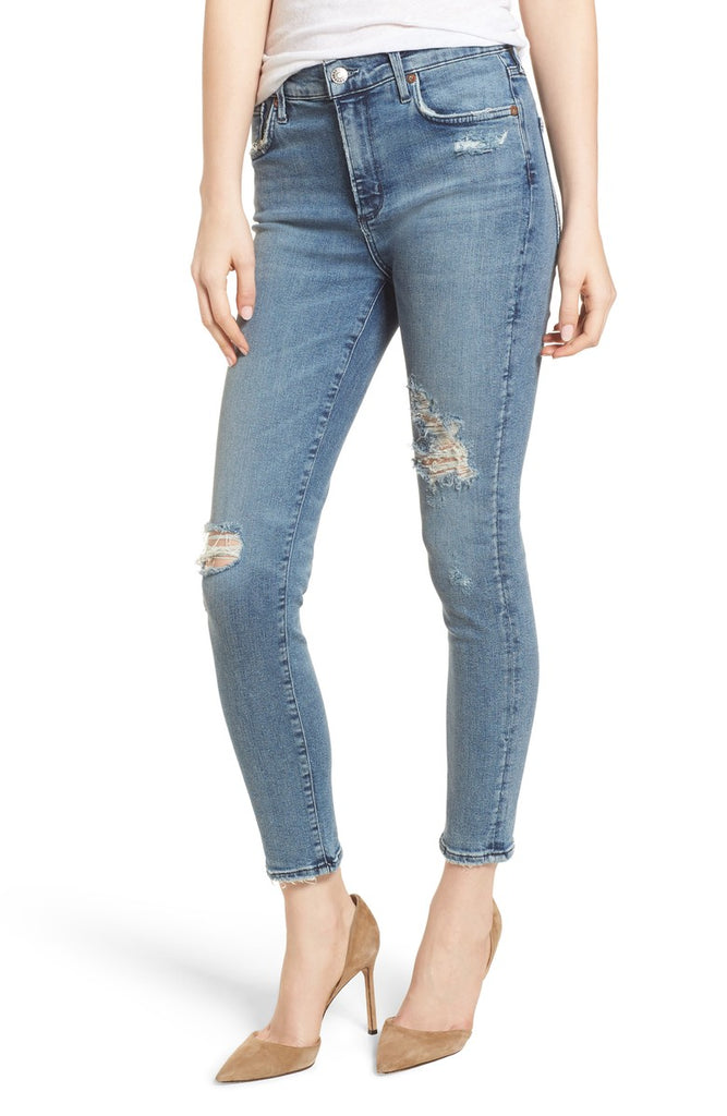 Sophie High-Rise Skinny Crop in Spell