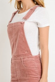 Overall Corduroy Mini Skirt