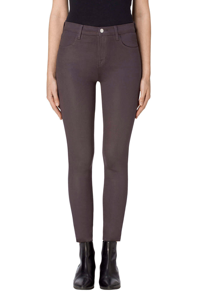 Alana High-Rise Crop Skinny in Light Coated Chrome