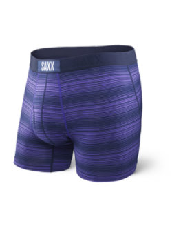 Ultra Boxer Fly in Navy Ombre Stripe - D