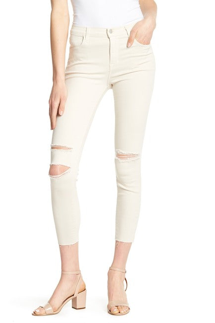 Alana High-Rise Crop Skinny in Silver Birch Mercy