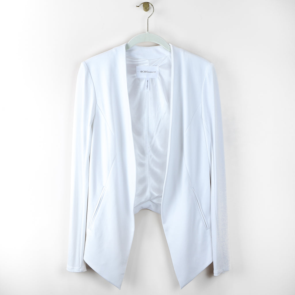 Asymmetrical Blazer in Optic White - DI