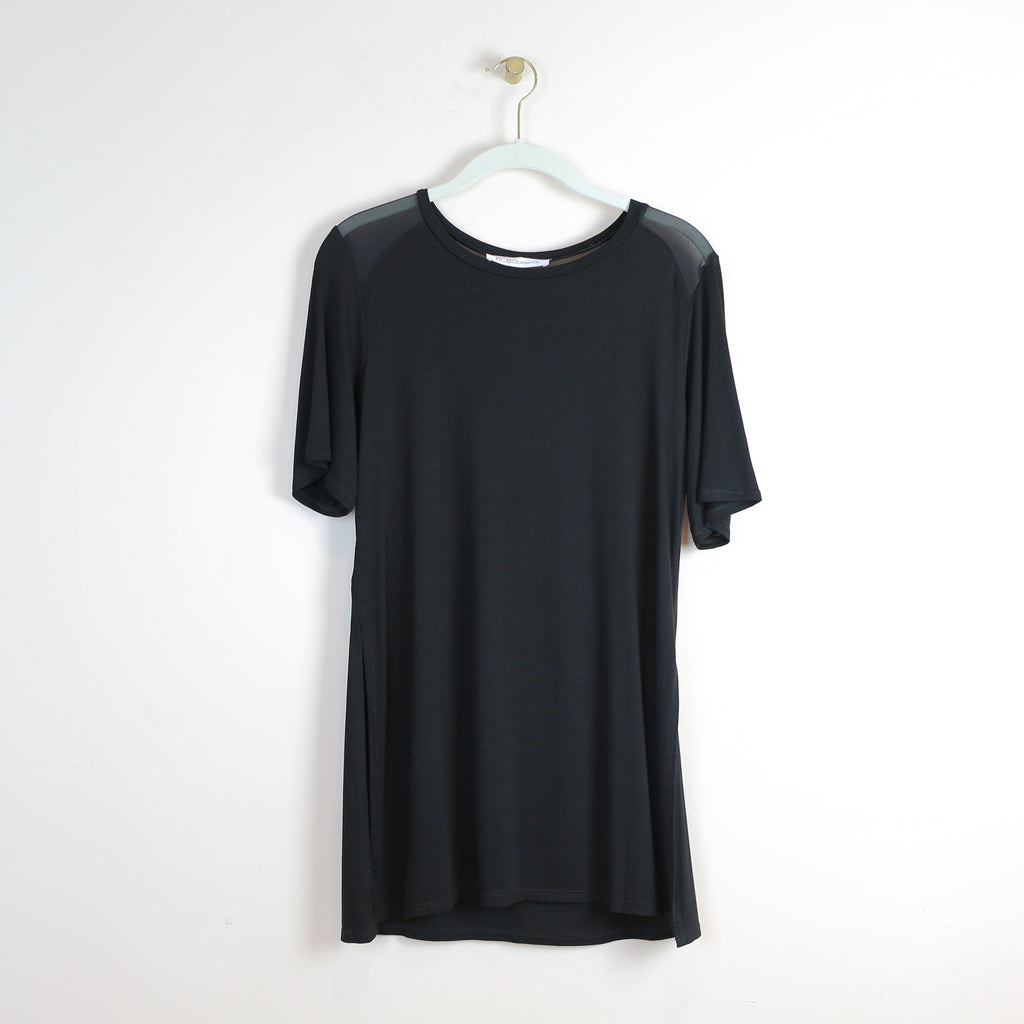 Black Crew Neck w/Side Slit - DI