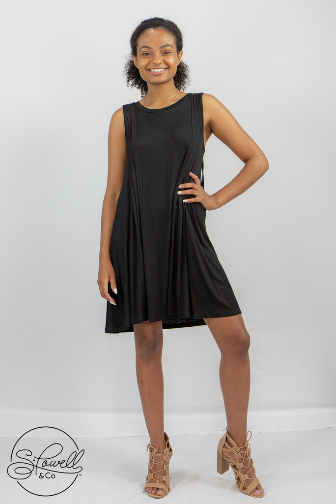 Black Dress w/Fringed Back
