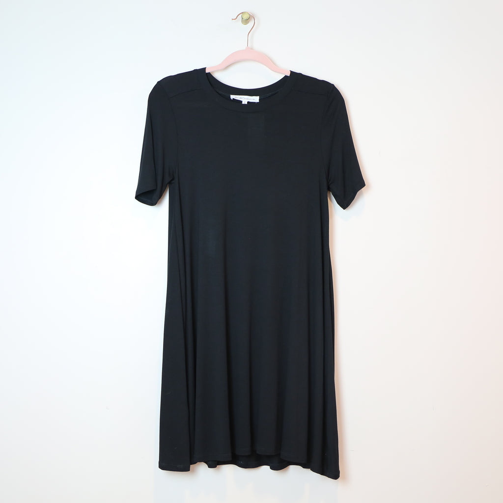 Black T-Shirt Dress - DI