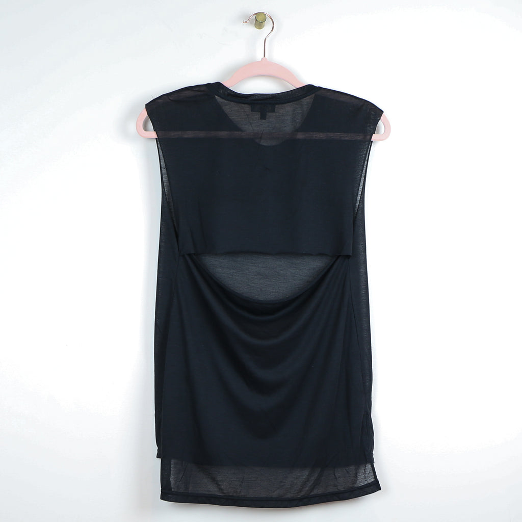 Raw Hem Open Back Long Tank - DI