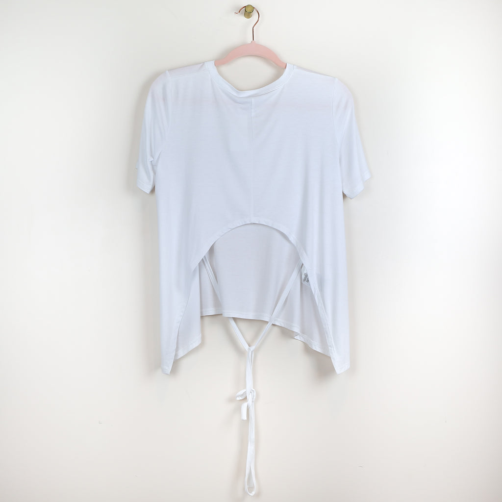White Tee with Tie Back - DI