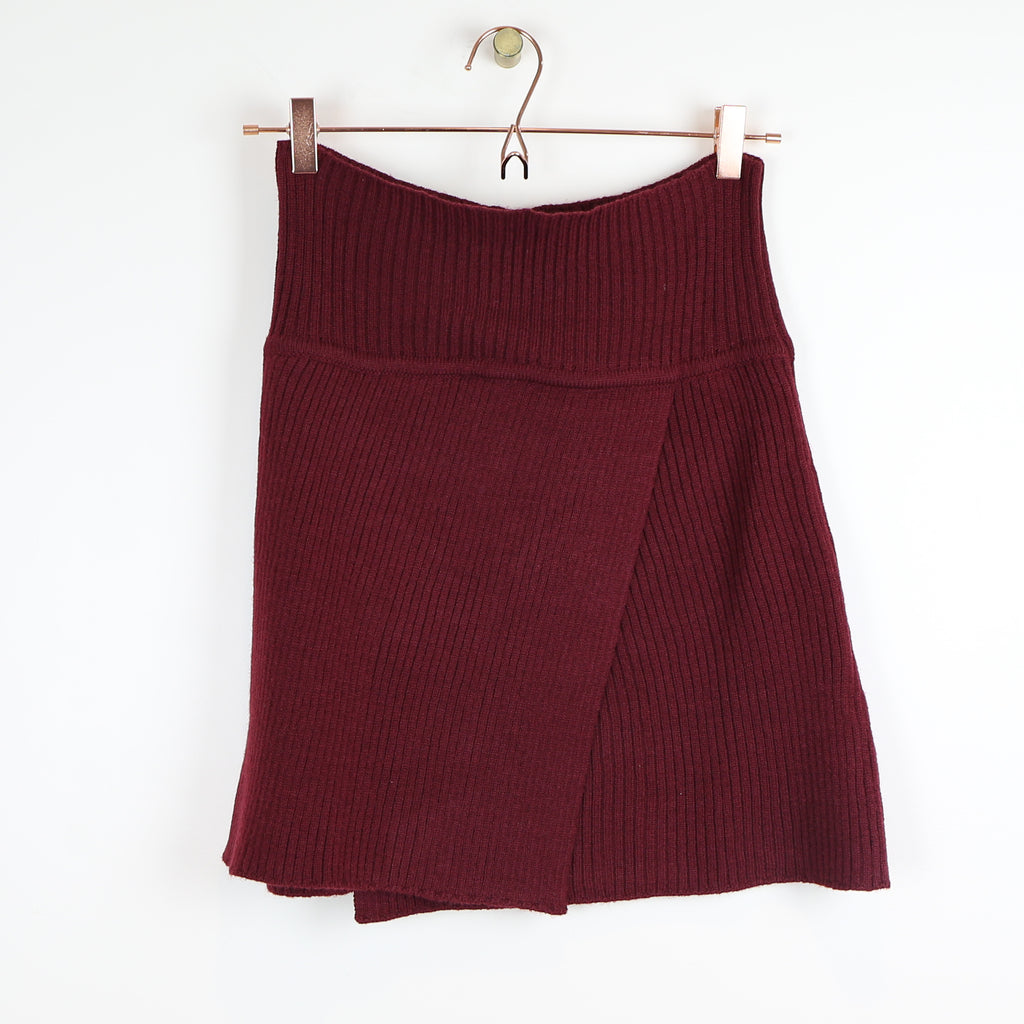 Sweater Skirt - Maroon