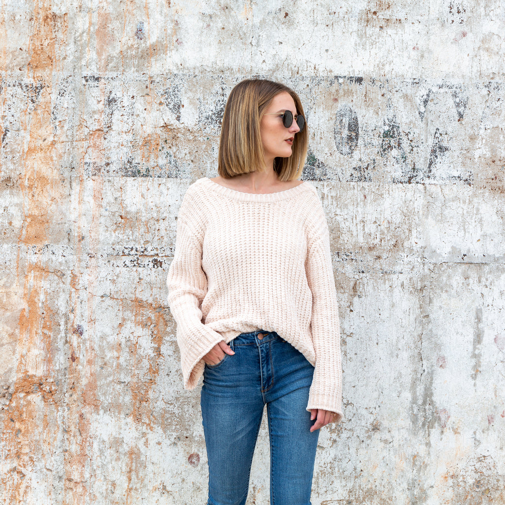 Chenille Sweater - Cream