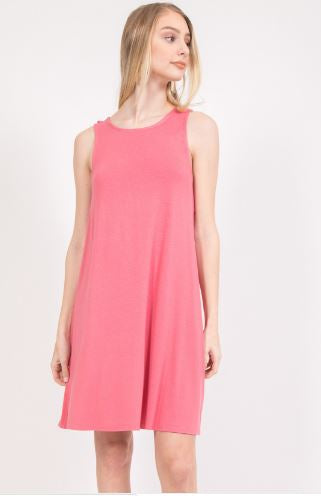 T-shirt Tank Dress with Ruffle Shoulder