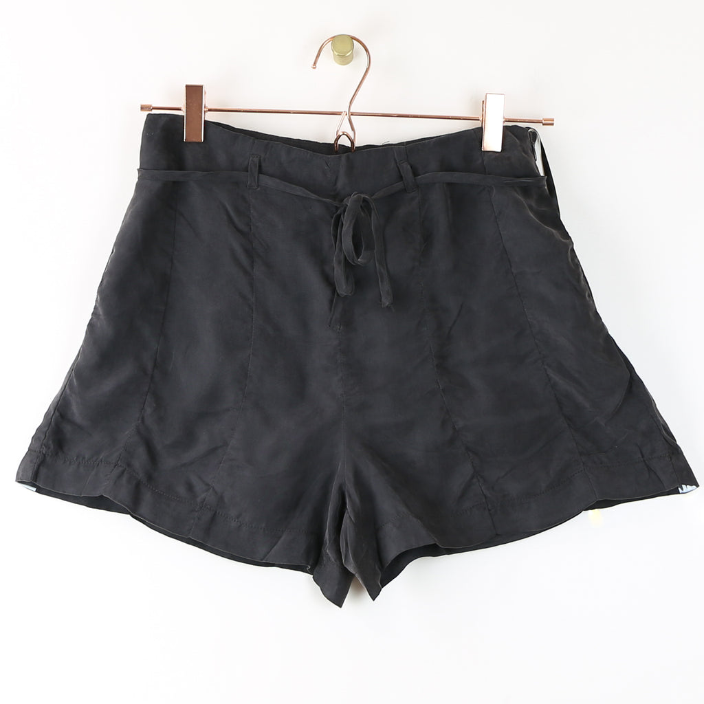 Charcoal Shorts w/Side Zipper