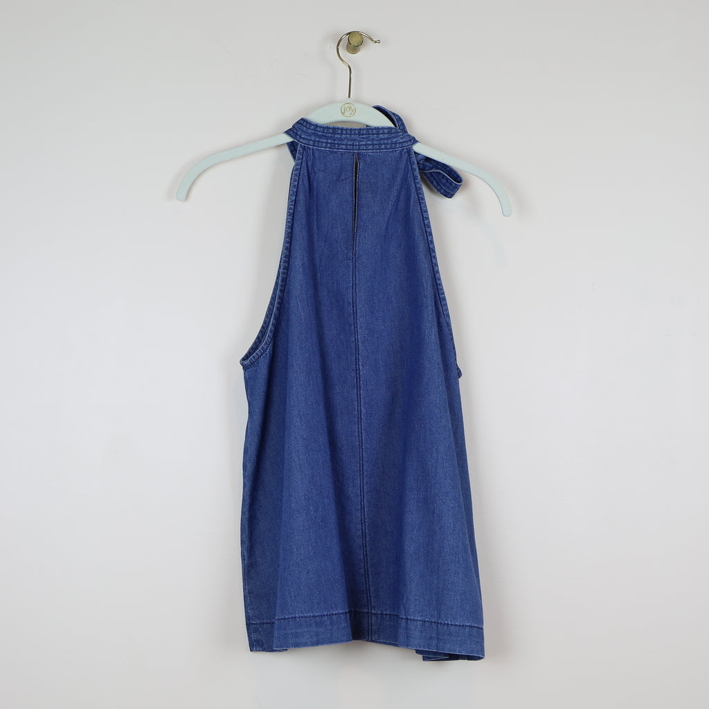 Denim Neck Tie Tank