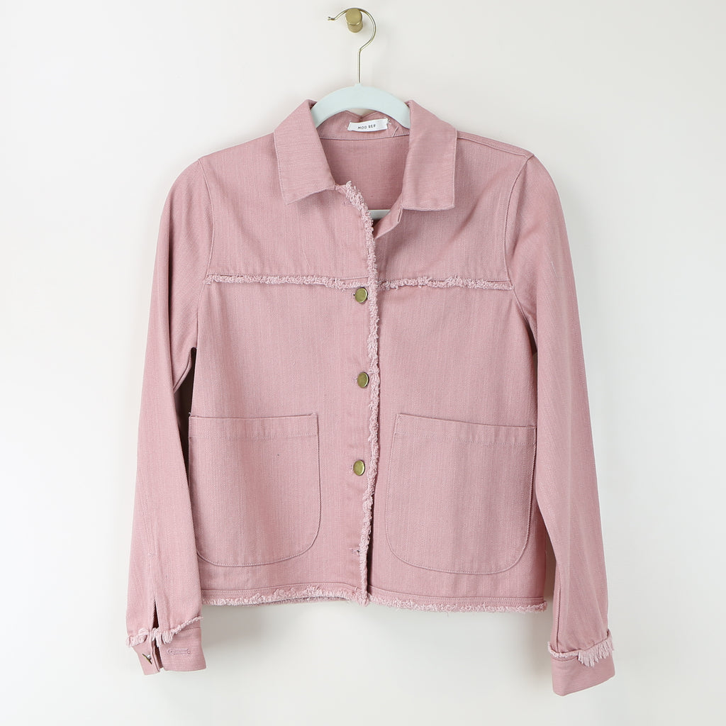 Dusty Blush Denim Jacket