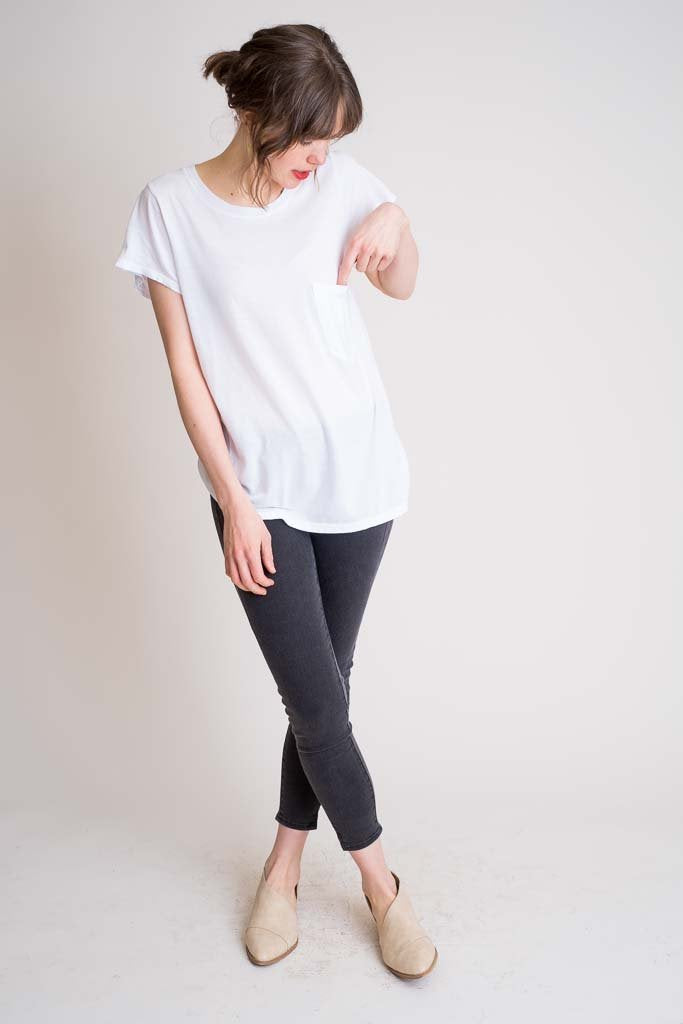 Austin Top - White Cotton