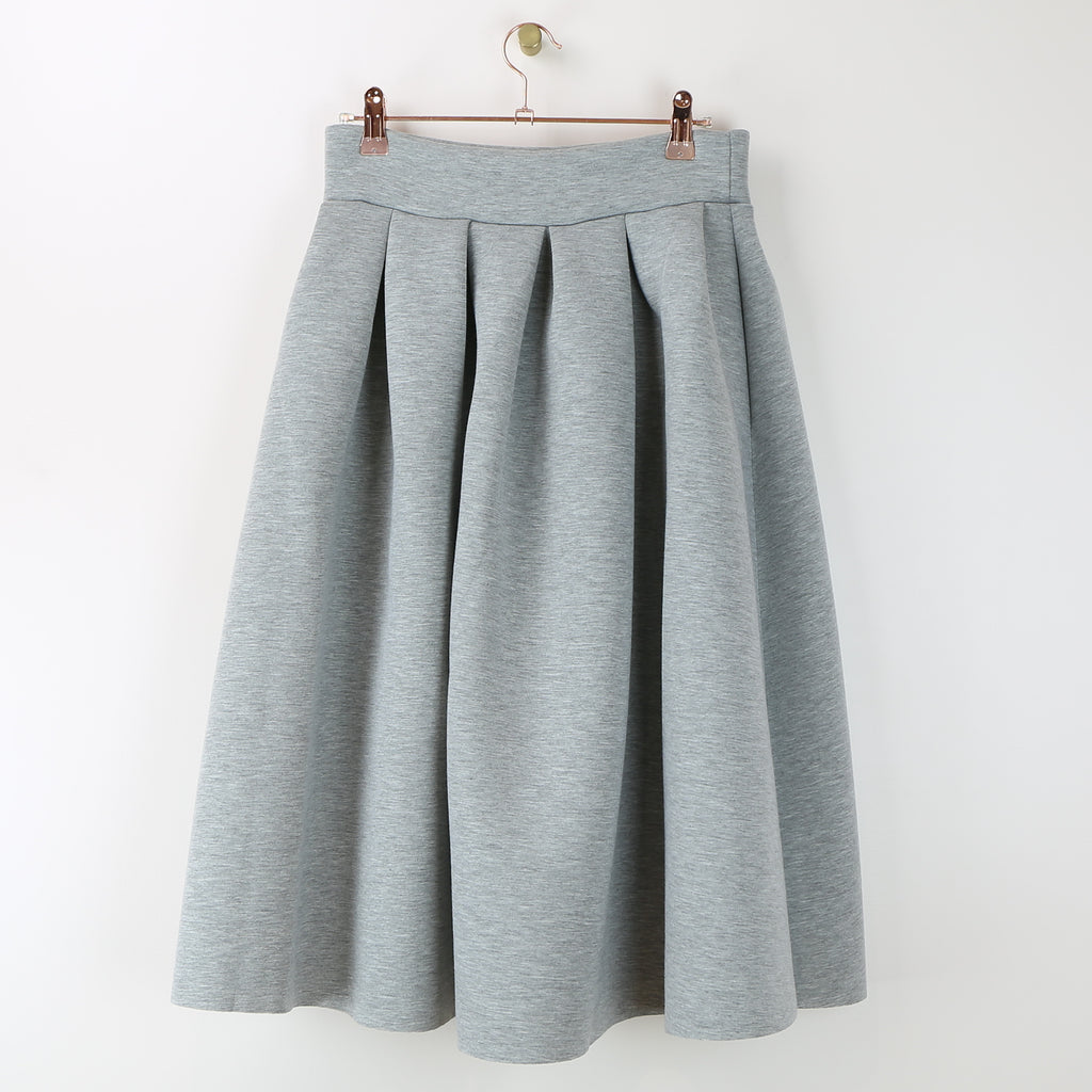 Grey Sweatshirt A-Line Skirt - DI