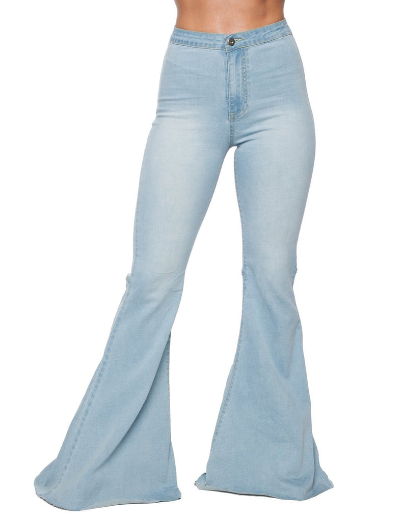Moonshine Light Wash Denim Bell-Bottom