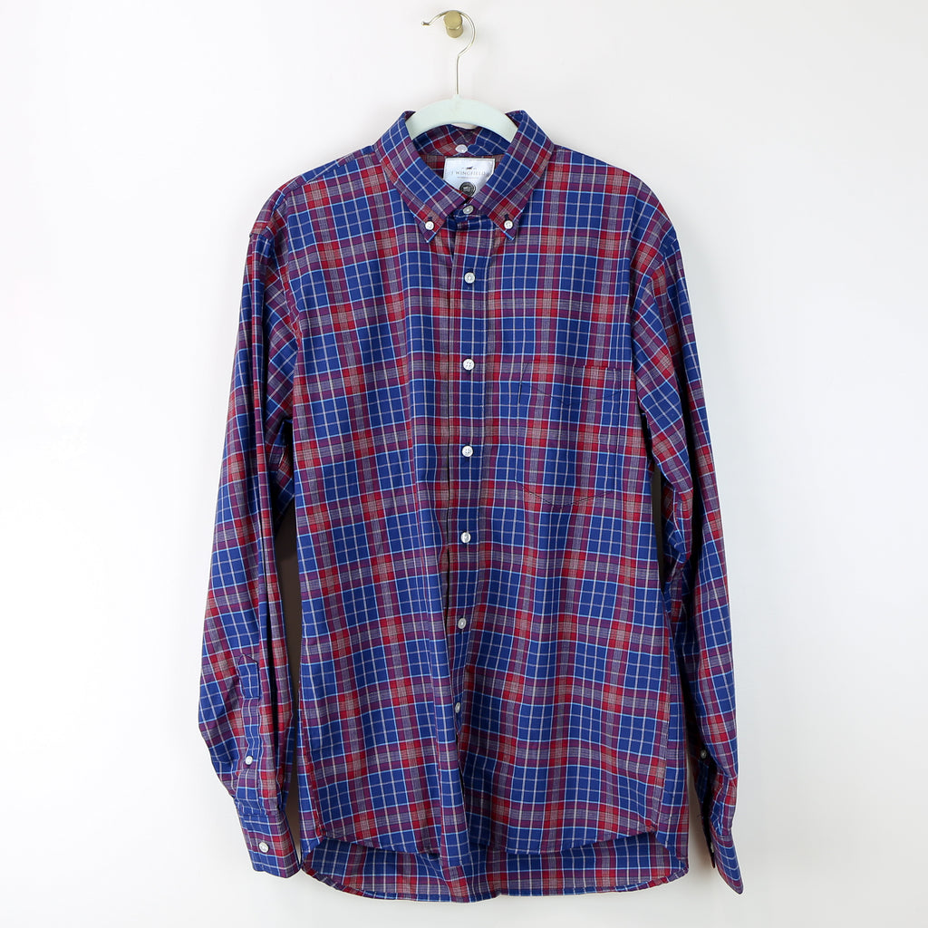 Men's Nicobar Red Plaid Button-Down