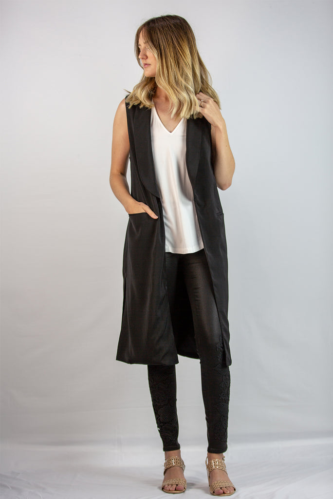 Mid-Length Collared Vest
