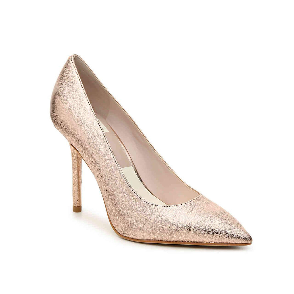 Mika Heel Rose Gold Leather