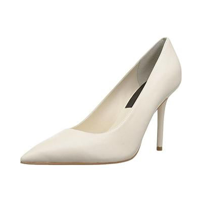 Mika Heel in Ivory Leather