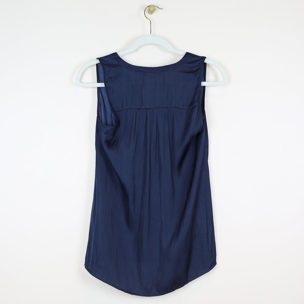 Navy V-Neck Tank Top