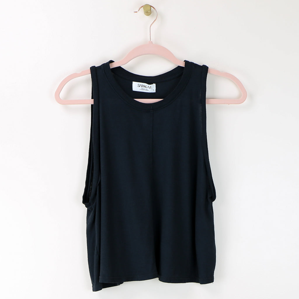 Newport Top - Washed Black