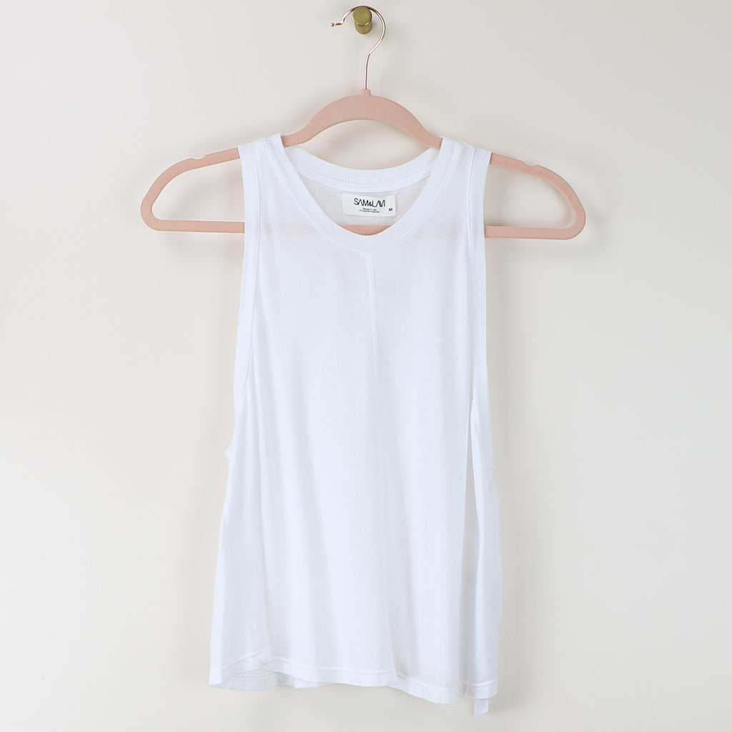 Newport Top - White Cotton