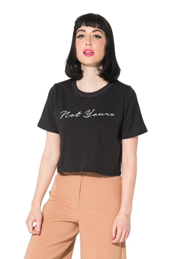 """Not Yours"" Black Crop Top - DI"