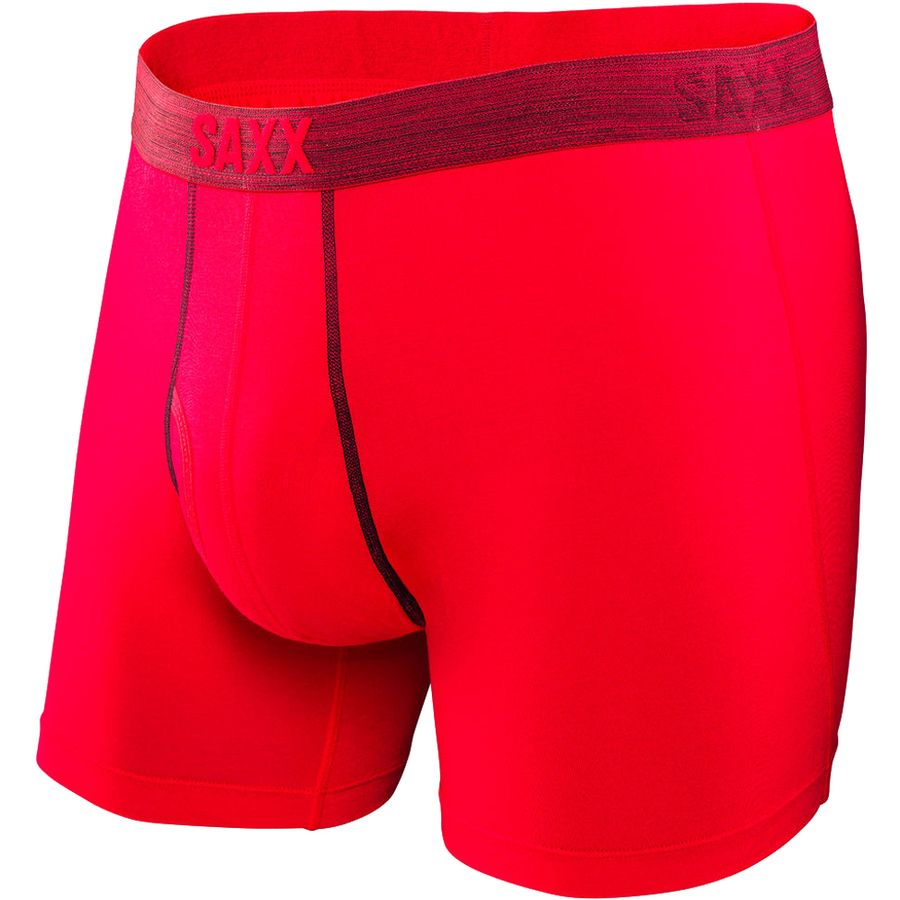 Platinum Boxer Fly in Red/Dark Grey - D