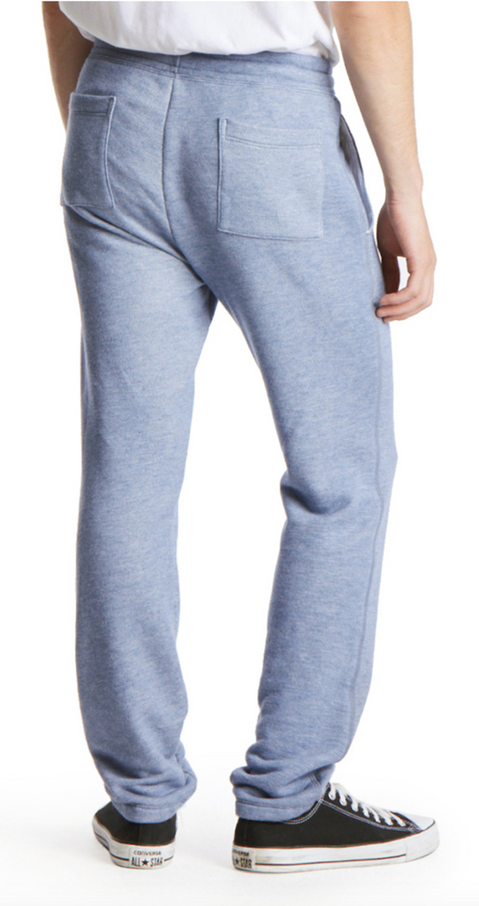 Drawstring Sweat Pant in Light Blue