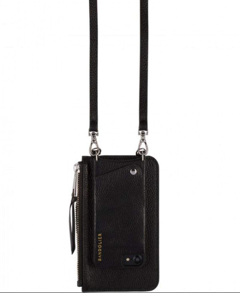 The Emma Pouch - Black & Silver