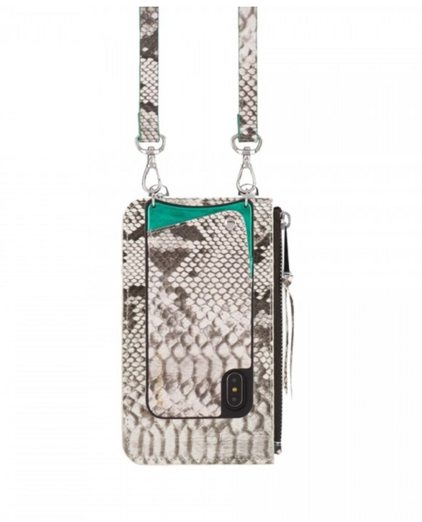 The Emma Pouch - White Snake